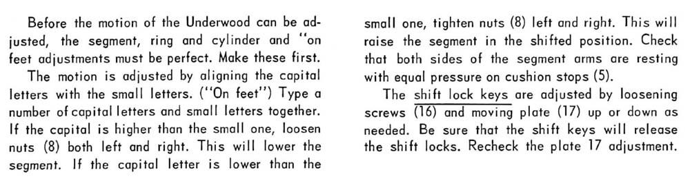 Underwood Standard Typewriter Repair