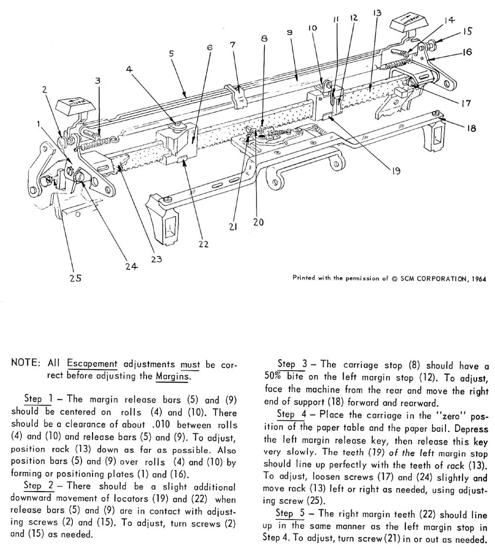 smith corona typewriter repair manual