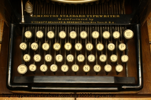 This machine is old enough to have typebars made of wood.