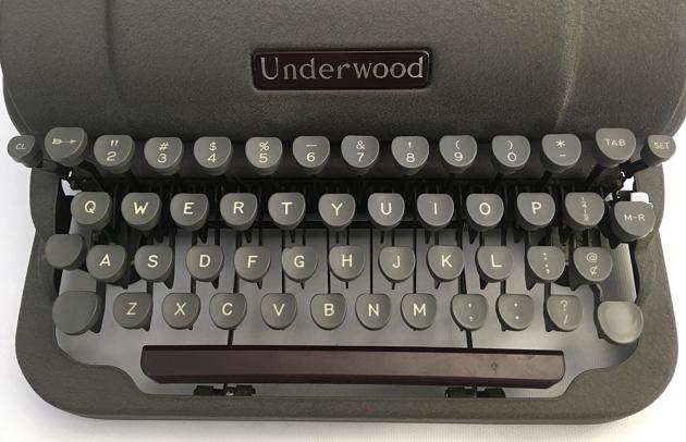 Underwood Finger-Flite Champion from the keys...
