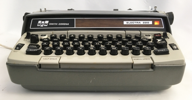 """Smith Corona """"Electra 220 Automatic"""" from the front..."""