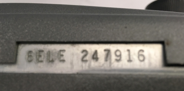 Serial number location...