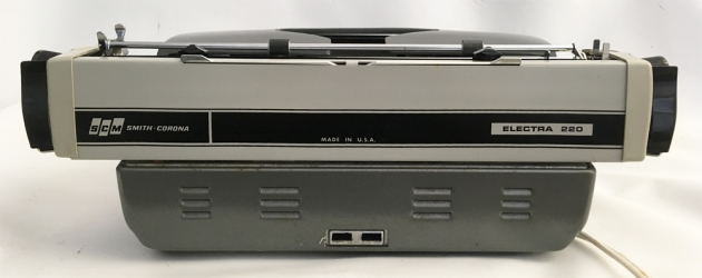 """Smith Corona """"Electra 220 Automatic"""" from the back..."""