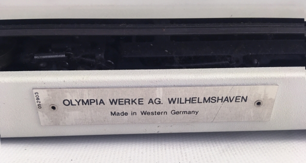 """Olympia """"Traveller de Luxe"""" detail of back..."""