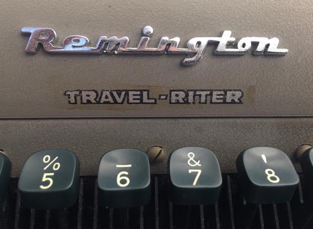 """Remington """"Travel-Riter"""" logo detail..."""