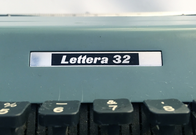 "Olivetti ""Lettera 32"" from the back, logo detail..."