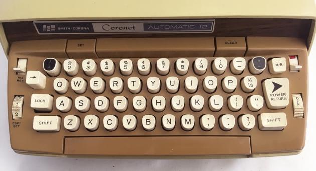 """Smith-Corona """"Coronet"""" from the keyboard..."""