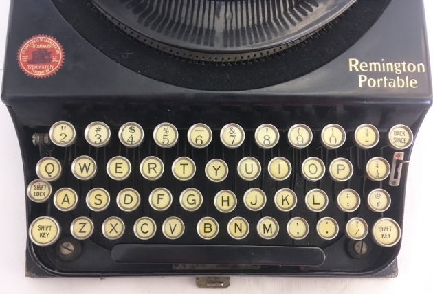 """Remington """"Portable """" from the keyboard..."""