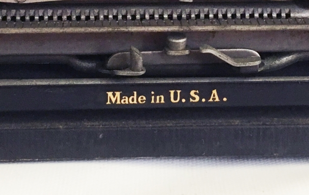 """Remington """"Portable """" from the back (detail)..."""