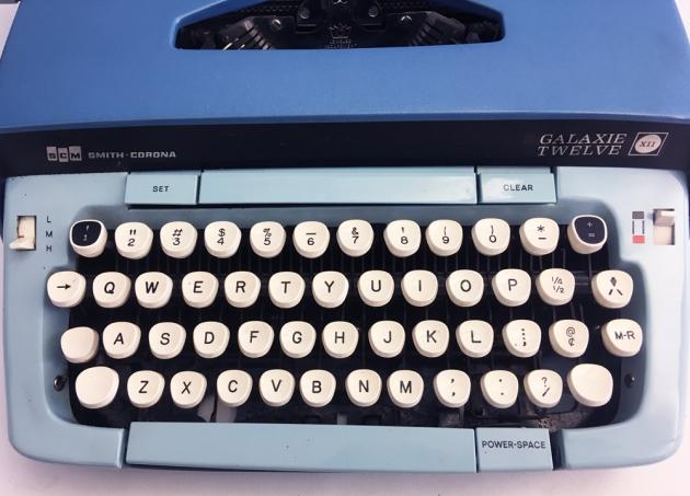 "Smith-Corona ""Galaxie Twelve"" from the keyboard..."