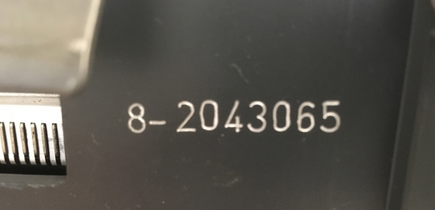 This is the serial number for the unusually large carriage/platten.