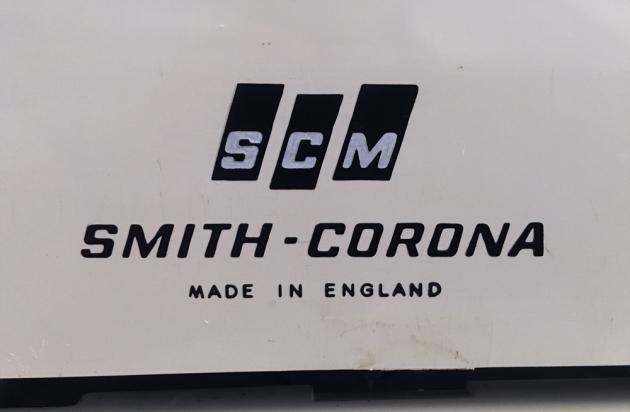 "Smith-Corona ""Profile"" back logo..."