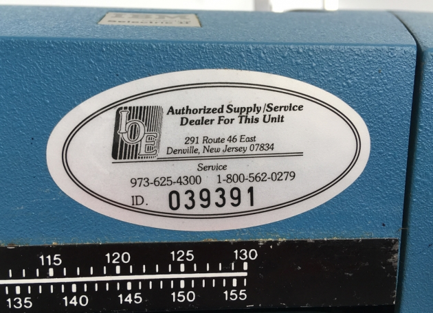 IBM Selectric ll sequential service sticker ...