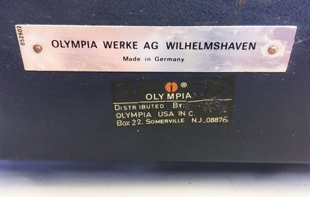 """Olympia """"SG3"""" from the back, detail #3..."""
