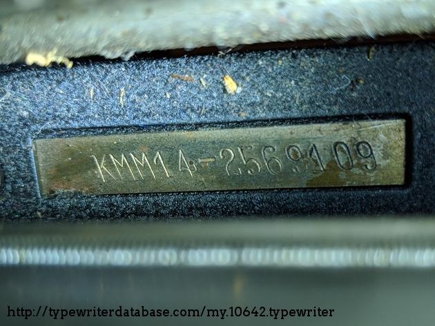 Serial number plate.