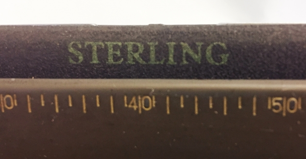 """Smith-Corona """"Sterling"""" badge detail..."""