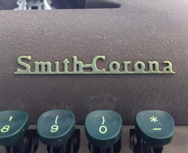 "Smith-Corona ""Sterling"" logo detail..."