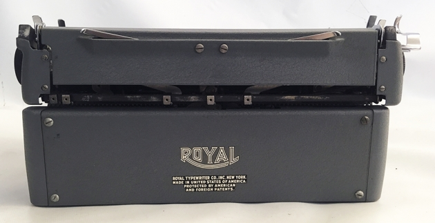 """Royal """"Quiet De Luxe"""" from the back."""