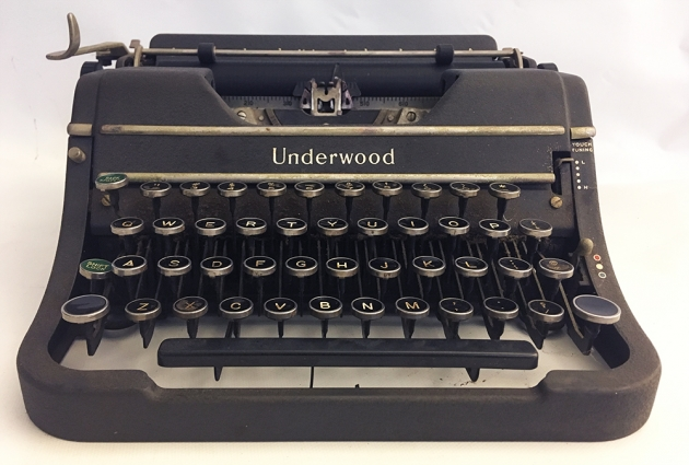 """Underwood """"Universal"""" from the front..."""