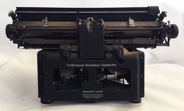 Underwood (Remington) Noiseless from the back...