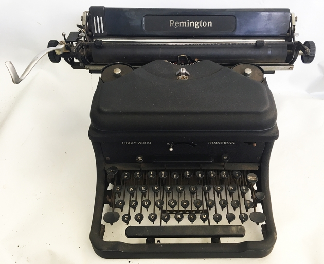 Underwood (Remington) Noiseless from the top/front...