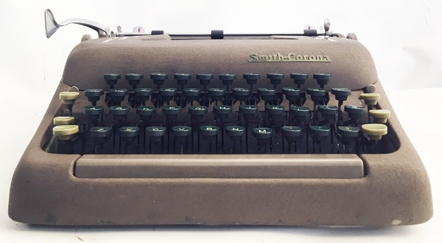 "Smith-Corona ""Silent"" from the front..."