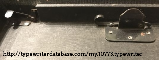 The release mechanism in the case.