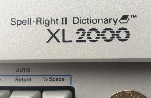 """Smith-Corona """"XL 2000"""" logo/badge..."""