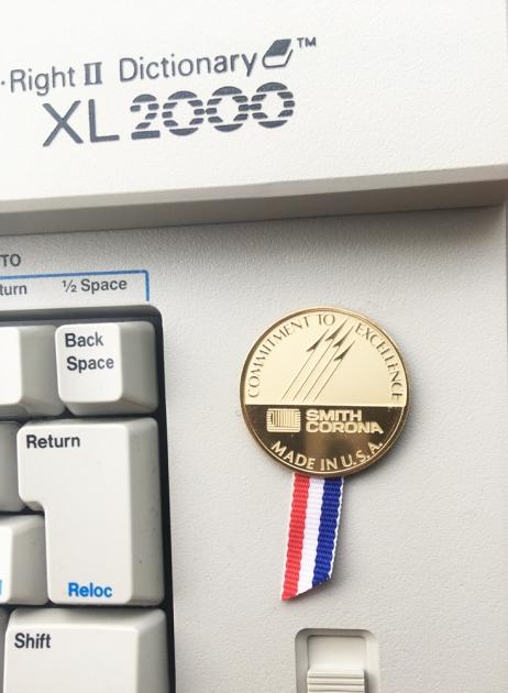 """Smith-Corona """"XL 2000"""" coin...?"""