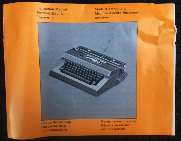 "Brother ""Correct-O-Riter"" manual cover..."