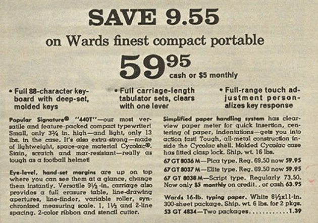 From 1968 Montgomery Ward Christmas Catalog.