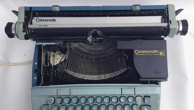 "Smith-Corona ""Coronet Super 12 Coronamatic"" from under the hood..."