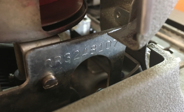 """Remington """"Quiet-Riter"""" serial number location..."""