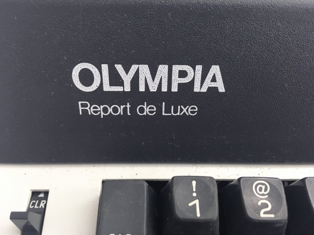 "Olympia ""Report de Luxe"" from the keyboard (detail, left side)..."
