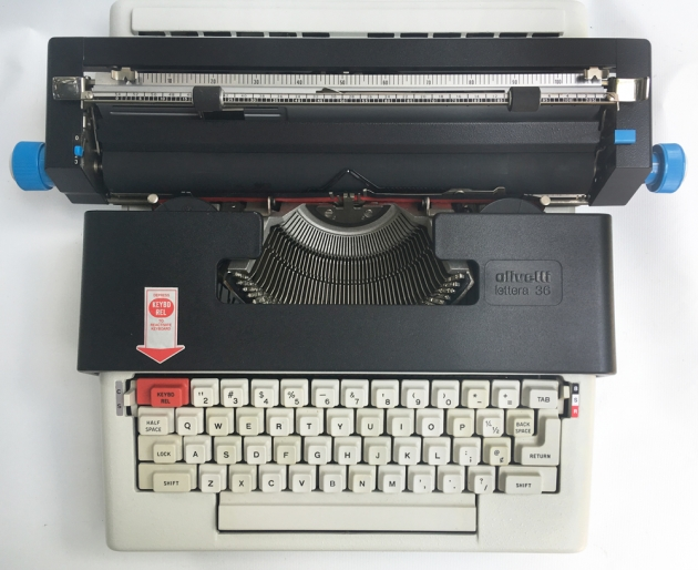 "Olivetti ""36"" from the top..."