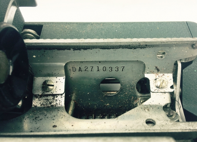 "Underwood ""Ace"" serial number location..."