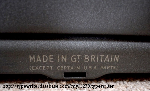 Produced in the Remington Rand factory Glasgow