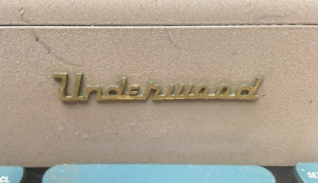 """Underwood """"SX"""" logo from the front..."""