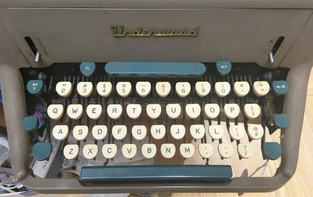 """Underwood """"SX"""" from the keyboard..."""