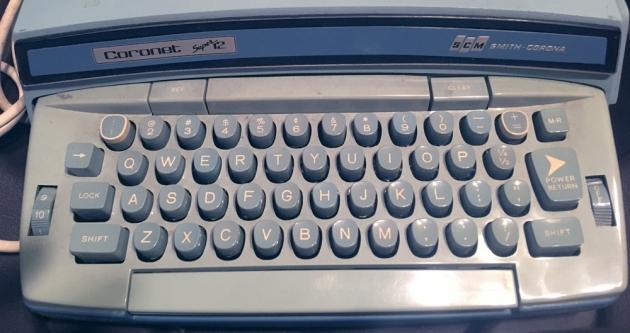 "Smith-Corona ""Coronet Super 12 Coronamatic"" from the keyboard..."