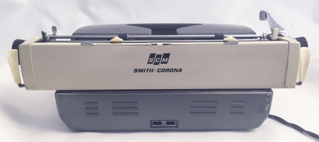 "Smith-Corona ""Electra 110"" from the back..."