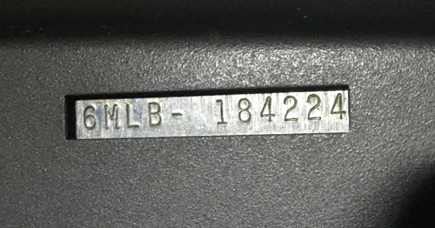 "Smith-Corona ""Galaxie Deluxe"" serial number location..."
