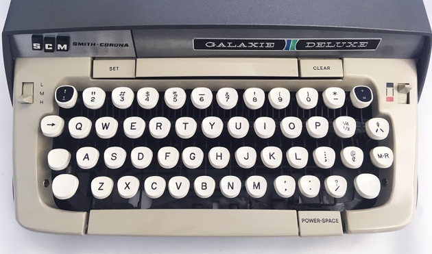"Smith-Corona ""Galaxie Deluxe"" from the keyboard..."