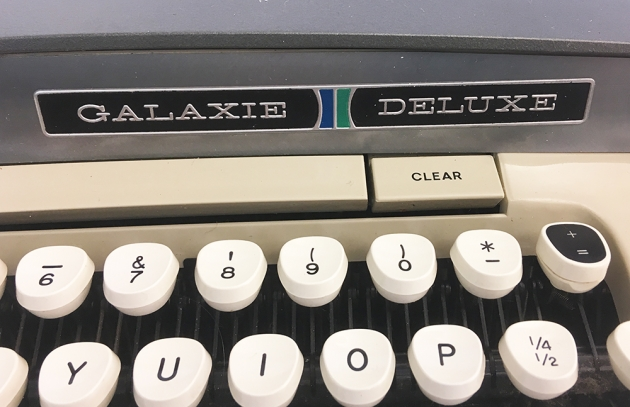 "Smith-Corona ""Galaxie Deluxe"" from the keyboard (detail, right)..."
