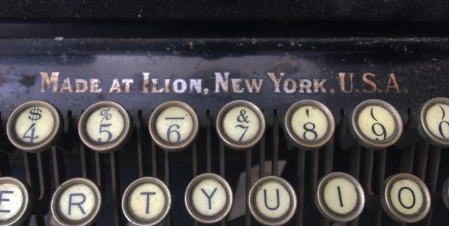 "1909 Remington ""12"" from the keyboard (detail)..."