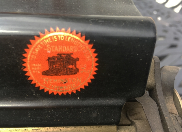 "1909 Remington ""12"" logo from the top (detail)..."