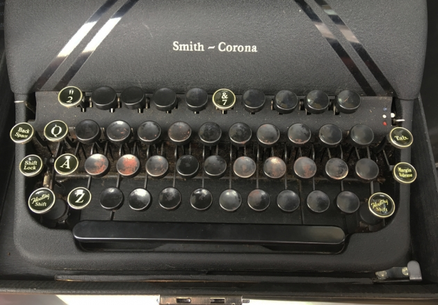 """Smith-Corona """"Sterling"""" from the keyboard..."""