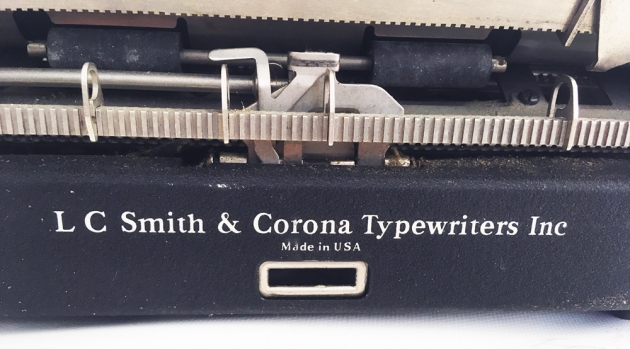 """Smith-Corona """"Sterling"""" from the back (detail)..."""