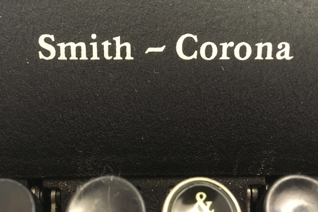 """Smith-Corona """"Sterling"""" logo on the front..."""