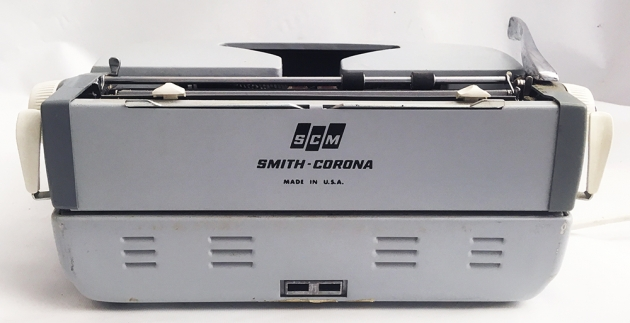 "Smith-Corona ""Coronet Electric 10"" from the back..."